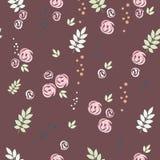 картина листьев цветков безшовная Стоковое Изображение RF