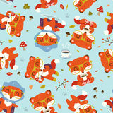 картина лисы падения шаржа Стоковые Фото