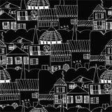 Картина итальянского городского пейзажа безшовная Стоковые Изображения RF