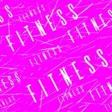 Картина или предпосылка ленты Kinesio горизонтальные безшовные Пинк фитнеса поцарапал элементы дизайна, ярлык спортзала, ткань сп Стоковое Изображение RF