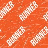 Картина или предпосылка ленты Kinesio горизонтальные безшовные Элементы бегуна фитнеса поцарапанные апельсином, ярлык спорта, тка Стоковое Изображение RF