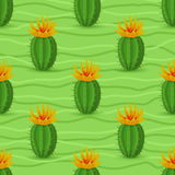 Картина кактуса безшовная Стоковая Фотография RF