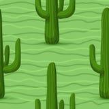 Картина кактуса безшовная Стоковые Изображения