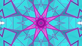 Картина калейдоскопа бирюзы пурпурная закрепленное петлей абстрактное r иллюстрация штока