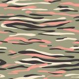 картина камуфлирования безшовная Текстура Camo хаки, предпосылка Абстрактный воинский фон для моды, ткань, печать иллюстрация вектора