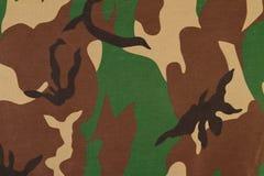 Картина камуфлирования на ткани Стоковое Изображение