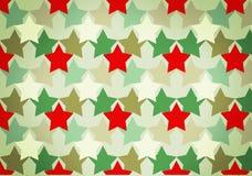 Картина камуфлирования с красными звездами Стоковое Изображение