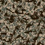 Картина камуфлирования цифров. Безшовная текстура. Стоковые Изображения