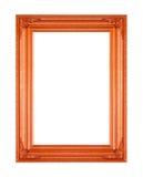 Картина картинной рамки деревянная высекаенная изолированная на белом backgrou Стоковые Изображения