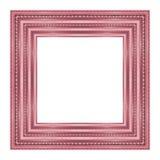 Картина картинной рамки деревянная высекаенная изолированная на белом backgrou Стоковые Изображения RF