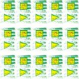 Картина квадрата и треугольника Стоковые Изображения RF