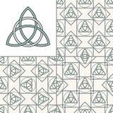 Картина кельтского узла безшовная Стоковое Фото