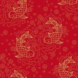 Картина китайского вектора безшовная Стоковые Фотографии RF