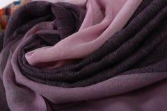 Картина китайского стиля сделанная из шарфов ткани Стоковая Фотография RF