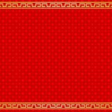 Картина китайской предпосылки Нового года красная безшовная иллюстрация вектора