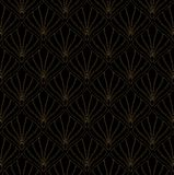Картина классического стиля Арт Деко безшовная геометрический орнамент стильный Текстура антиквариата вектора иллюстрация штока