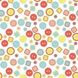 Картина кнопки вектора милая безшовная Стоковое Фото
