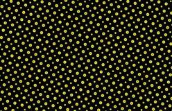 Картина кнопок безшовная в желтом цвете и черноте Стоковые Изображения RF