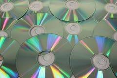 Картина компактного диска КОМПАКТНОГО ДИСКА, предпосылка Стоковые Изображения