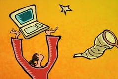 картина компьютера предназначенная для подростков Стоковые Фото