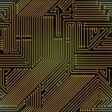 картина компьютера цепи доски безшовная