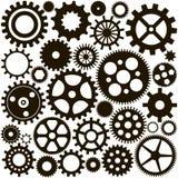 Картина комплекта черных шестерней Стоковое Изображение