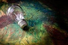 Картина конспекта с электрической лампочкой Масло смешивания Стоковые Изображения RF