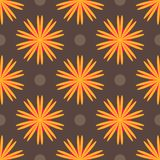 Картина конспекта этническая покрашенная флористическая геометрическая безшовная стоковые фото