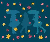 Картина, конспект, иллюстрация, дизайн, искусство, осень, обои, красочные, лист, цветок, безшовный, украшение, цветки, синь, выкр бесплатная иллюстрация