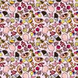 картина конфеты безшовная Стоковая Фотография RF