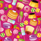 картина конфеты безшовная Стоковое Изображение