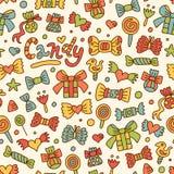 картина конфеты безшовная Стоковые Фото