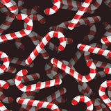Картина конфеты рождества безшовная конфета 3D Striped предпосылкой Стоковые Изображения