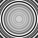 Картина концентрических кругов Абстрактное monochrome-геометрическое illust Стоковое Изображение