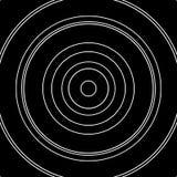 Картина концентрических кругов Абстрактное monochrome-геометрическое illust Стоковое фото RF