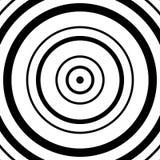 Картина концентрических кругов Абстрактное monochrome-геометрическое illust Стоковые Изображения RF