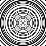 Картина концентрических кругов Абстрактное monochrome-геометрическое illust Стоковое Фото