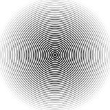 Картина концентрических кругов Абстрактное monochrome-геометрическое illust Стоковое Изображение RF