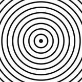 Картина концентрических кругов Абстрактное monochrome-геометрическое illust иллюстрация штока