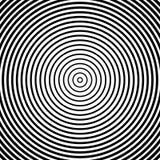 Картина концентрических кругов Абстрактное monochrome-геометрическое illust Стоковая Фотография