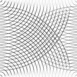Картина концентрических кругов безшовная monochrome Абстрактное geometr Стоковое Изображение