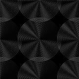 Картина концентрических кругов безшовная monochrome Абстрактное geometr Стоковое фото RF