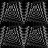 Картина концентрических кругов безшовная monochrome Абстрактное geometr Стоковые Изображения