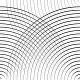 Картина концентрических кругов безшовная monochrome Абстрактное geometr Стоковая Фотография RF