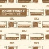 Картина кондиционера воздуха безшовная Стоковое Фото