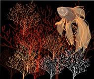 Картина коралла иллюстрация вектора