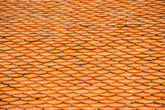 Картина коричневой керамической крыши Стоковые Изображения RF