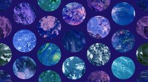 Картина космических бумажных мраморных обоев безшовная Стоковая Фотография