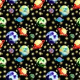Картина космоса с планетами бесплатная иллюстрация