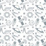 Картина космоса шаржа безшовная astrix наука иллюстрация вектора